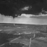 Tornado Hitting Dallas During a Storm Photographic Print by Joe Scherschel
