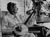 Banjo Player Aunt Samanthey Premium Photographic Print by Robert W. Kelley