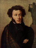 Portrait of Alexander Pushkin, Russian Poet Premium Photographic Print