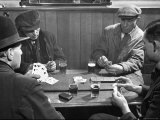 Men Playing a Crib Game, a Card Game, in an English Pub Photographic Print by Hans Wild