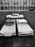 Chevrolet Impala and Lincoln Premiere, All New 1958 Cars Premium Photographic Print by Andreas Feininger