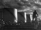 Huge Storage Tanks of Aramco Oil Co Photographic Print by Howard Sochurek