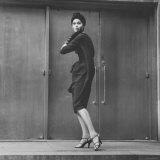 Model Wearing a Bag Dress Photographic Print by Yale Joel