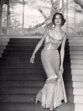 Evening Dress Designed by a California Designer Premium Photographic Print by Gordon Parks