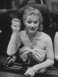 Chorus Girl Gambling at Riviera Hotel Premium Photographic Print by Francis Miller
