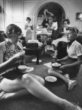 Teenage Girls Enjoying Each Other's Company During Summer Vacation Premium Photographic Print by Hank Walker