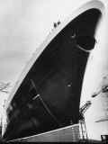 Launching of the Queen Elizabeth II Oceanliner Premium Photographic Print by Terence Spencer