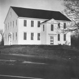 Exterior of Rocky Hill Meeting House, Example of Colonial Architecture, Dating from 1785 Photographic Print by Walker Evans