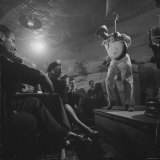 "Calypso Singer Known as ""Pork Chop"" Performing at a Nightclub Photographic Print by Yale Joel"