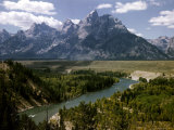 Snake River with the Grand Tetons in the Background, Jackson Hole, Wyoming Photographic Print by Alfred Eisenstaedt