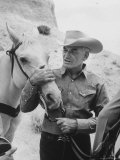 Senator Barry M. Goldwater, Riding His Horse is One of His Hobbies Premium Photographic Print by Leonard Mccombe