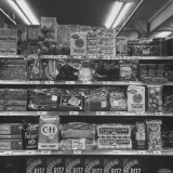 Groceries on Shelf with Prices Photographic Print by Nat Farbman