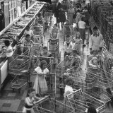 Children with Shopping Carts Let Loose in Supermarket During Experiment by Kroger Food Foundation Photographic Print by Francis Miller