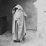 Egyptian Muslim Woman Covered Completely Photographic Print