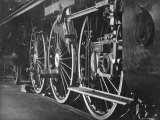 Borseg Werke Train Engine Wheels Premium Photographic Print by E O Hoppe