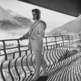 Model Wearing a Ski Suit Photographic Print by Loomis Dean