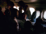 Robert Kennedy and Family on the Plane During the Pres. Campaign Premium Photographic Print by Bill Eppridge