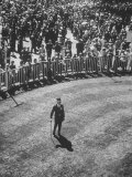 Man Standing in the Center of the Royal Enclosure at Ascot Race Track Photographic Print by Mark Kauffman