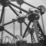 Atomium, Symbol of Brussels World's Fair Fotografie-Druck von Michael Rougier