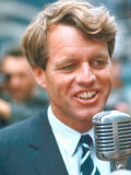 Robert F. Kennedy Speaking on Behalf of New York State Democratic Candidates Premium Photographic Print by Bill Eppridge