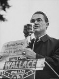 Gov. George C. Wallace of Alabama Campaigning on Behalf of His Wife For Governor Premium Photographic Print by Lynn Pelham