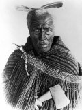 Portrait of Maori Chief Premium Photographic Print