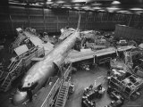Boeing's New 707 Jet Aircraft, at the Boeing Plant Photographic Print by Nat Farbman