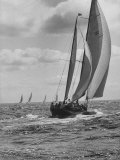 Friday Race Underway from Newport, Rhode Island to Vineyard Haven, Massachusetts Premium Photographic Print by Walter Sanders