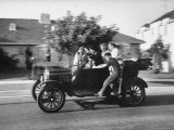 George Sutton and His Family Riding on a 1921 Model T Ford Premium Photographic Print by Ralph Crane