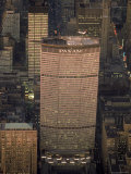 Pan Am Office Building in New York City with Private Helicopter Landing on the Rooftop Heliport Photographic Print by Arthur Schatz