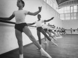 Ballet Lesson in National School of Arts Premium Photographic Print by Lynn Pelham