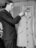 Rene, the Head Tailor, Hemming a Dress Jacket Photographic Print by John Phillips
