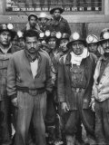 Miners with Boss of Communist Run Miners Union in Bolivia Ireno Pimentel Premium Photographic Print by Dmitri Kessel