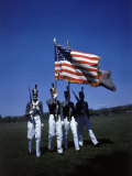 West Point Cadets Carrying US Flag Premium Photographic Print by Dmitri Kessel