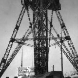Steel Tower Structure in Port at Kiel Photographic Print by Emil Otto Hoppé
