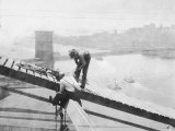 Manhattan Bridge under Construction Photographic Print
