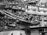 Parisians Enjoying an Amusement Park Ride Premium Photographic Print by Alfred Eisenstaedt