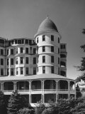 Oceanside Hotel with Two Story Veranda and Cupola on Corner Premium Photographic Print by Walker Evans