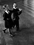 Public School Students Taking Rhythmic Dance Class Fotografie-Druck von Howard Sochurek