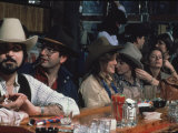 People Enjoying Themselves in the Rodeo Bar Premium Photographic Print by Ted Thai