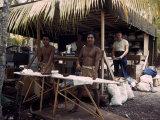 Native Men Ironing GI Clothes on Tarawa During WWII Premium Photographic Print by J. R. Eyerman