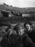 Three Welsh Coal Miners Just Up from the Pits After a Day's Work in Coal Mine in Wales Photographic Print by W. Eugene Smith