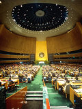Overview of Un Gen. Assembly in Session Premium Photographic Print by Ted Thai
