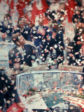 US President John F. Kennedy Receiving a Ticker Tape Parade During a State Visit to Mexico Premium Photographic Print by John Dominis