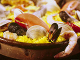 Plateful of Paella Made with Mussels, Shrimp and Rice Photographic Print by John Dominis