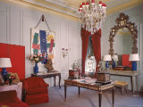 Photographer Cecil Beaton's Living Room in His Suite at the Plaza Hotel Premium Photographic Print by Dmitri Kessel