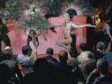 Topless Dancer Linda Bardot Performing at the Rainbow Grill Premium Photographic Print by Ted Thai