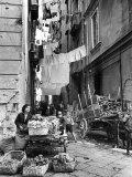 Vegetable Cart in Street of Slum Neighborhood Premium Photographic Print by Alfred Eisenstaedt