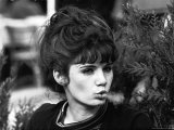 Young Parisian Woman Exhaling Smoke Premium Photographic Print by Alfred Eisenstaedt