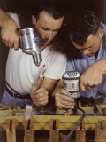 Workers Assembling Parts For a Consolidated Aircraft Photographic Print by Dmitri Kessel